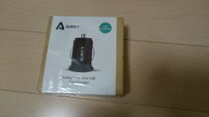 Aukey USBカーチャージャーパッケージ