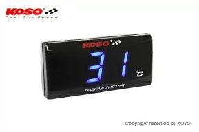 KOSO スーパースリムスタイルメーター温度計がシンプルで使える