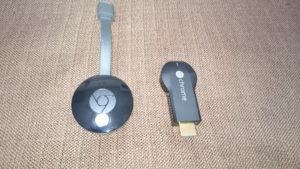 Chromecast2とChromecastの大きさ比較