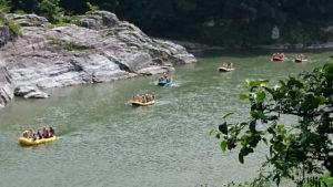 川くだりの風景