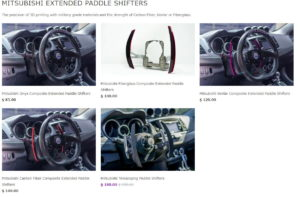 MITSUBISHI EXTENDED PADDLE SHIFTERS