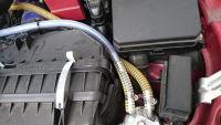 オイルキャッチタンクの耐圧耐油ホースを交換