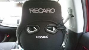 RS-Gとランエボのシートベルトの位置関係