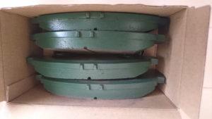 HAMPの緑色をしたブレーキパッド