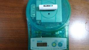電池の重量は17g