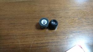 コンプライの低反発ウレタン製のイヤーチップ