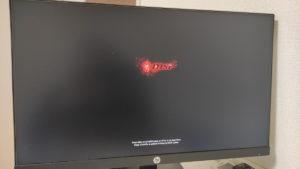 ディスプレイポート接続でもBIOSの表示までは出る