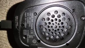 G633Sのイヤーパッドを外した写真